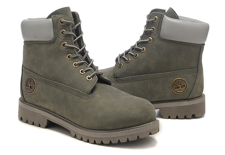 ティンバーランド Timberland ブーツ レースアップ ヌバック カーキ 6 Inch Boots 10061 メンズ レディース PREMIUM BOOT プレミアム ブーツ ヌバック 美品 [並行輸入品] B078TW7VR1 US10-28.0cm(メンズ用)