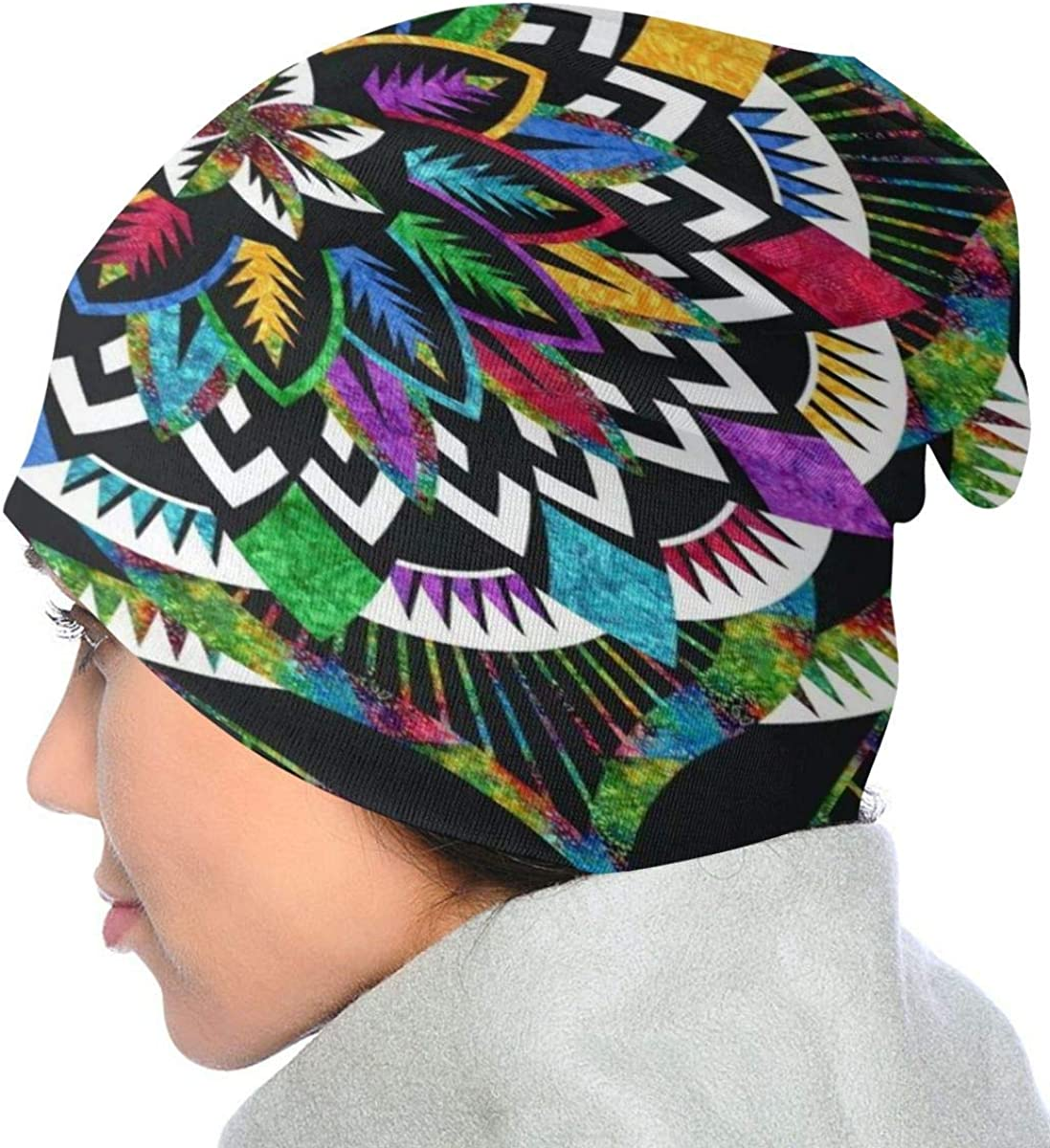 Dahlias Mardi Gras Beanies Soft Stretch Knit Beanie Hat Comfortable Windproof Knit Cap Durable Lightweight Skull Hat Breathable Portable Ski Cap for Boys Girls