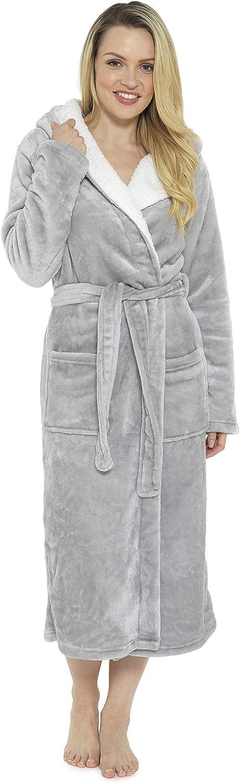 CityComfort Robe de Chambre de Doux Peignoir en Peluche Housecoat Waterfall Lounge Style Peignoir
