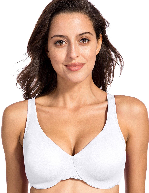 La Isla - Sujetador Reductor Sin Relleno Con Aros Minimizador Para Mujer
