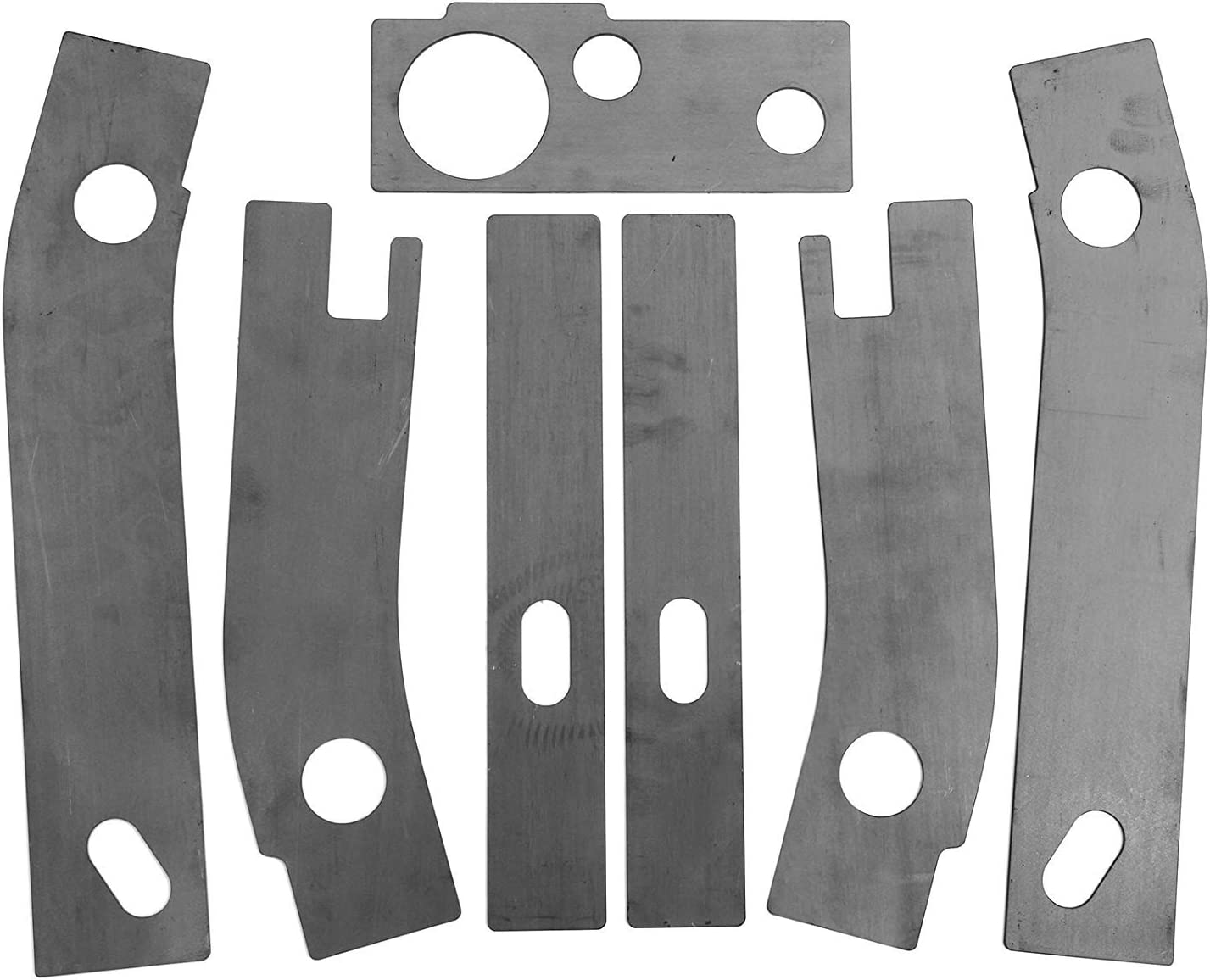 Lonwin 7Pcs Frame Repair Rusted Shackle Weld Plates Fit for 1986-1995 Jeep Wrangler