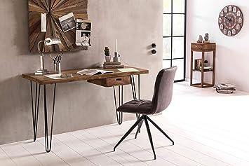 KS-Furniture BAGLI - Escritorio (130 x 60 x 76 cm, Madera Maciza ...