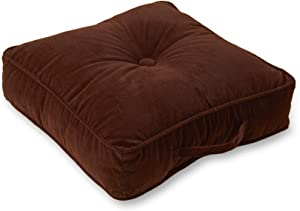 Greendale Home Fashions Omaha 21-inch Square Floor Pillow, Pecan