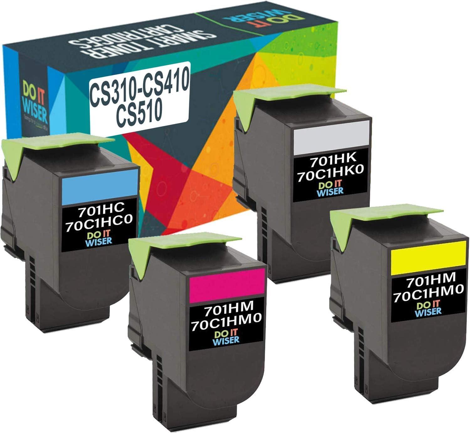 High Yield Yellow Toner Cartridge for Lexmark 70C1HY0 CS310 CS410 CS510-3k