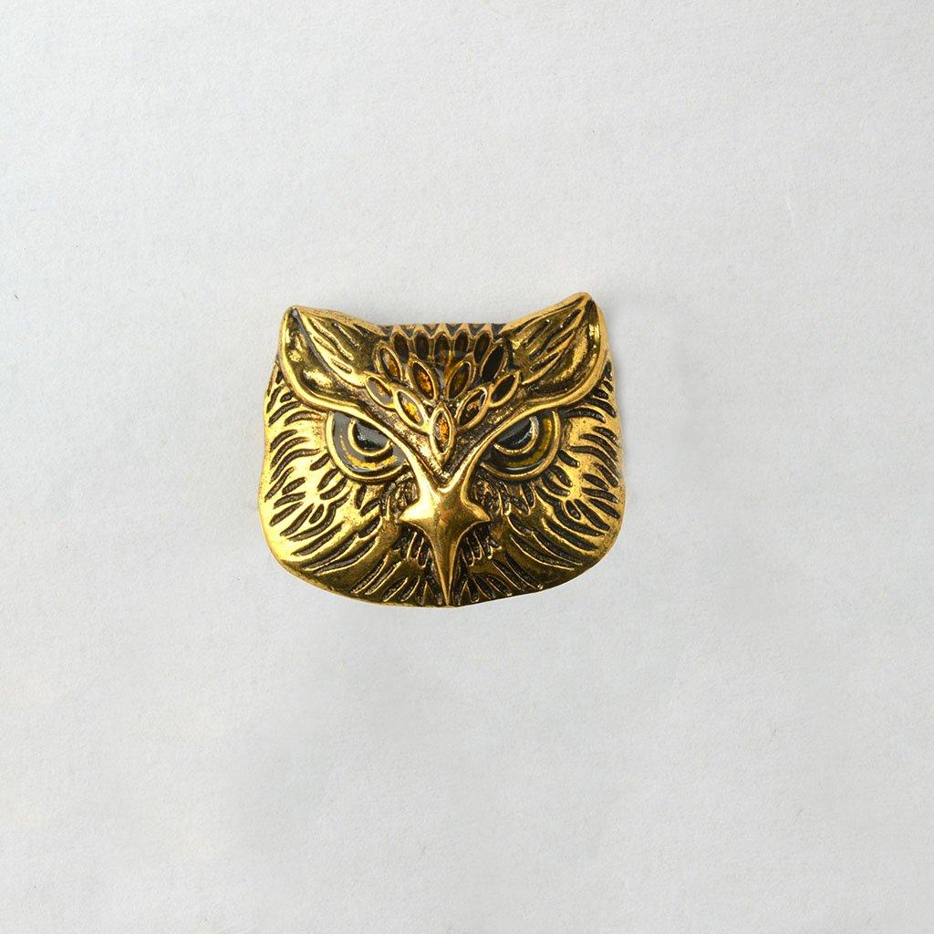 Steampunk Vintage Bronze Owl Pin Brooch Women Men Suit Accessory