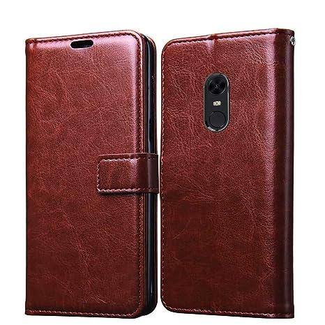 reputable site db4a2 c4fef XORB Xiaomi Redmi 5 Flip Cover Leather Case Premium: Amazon.in ...