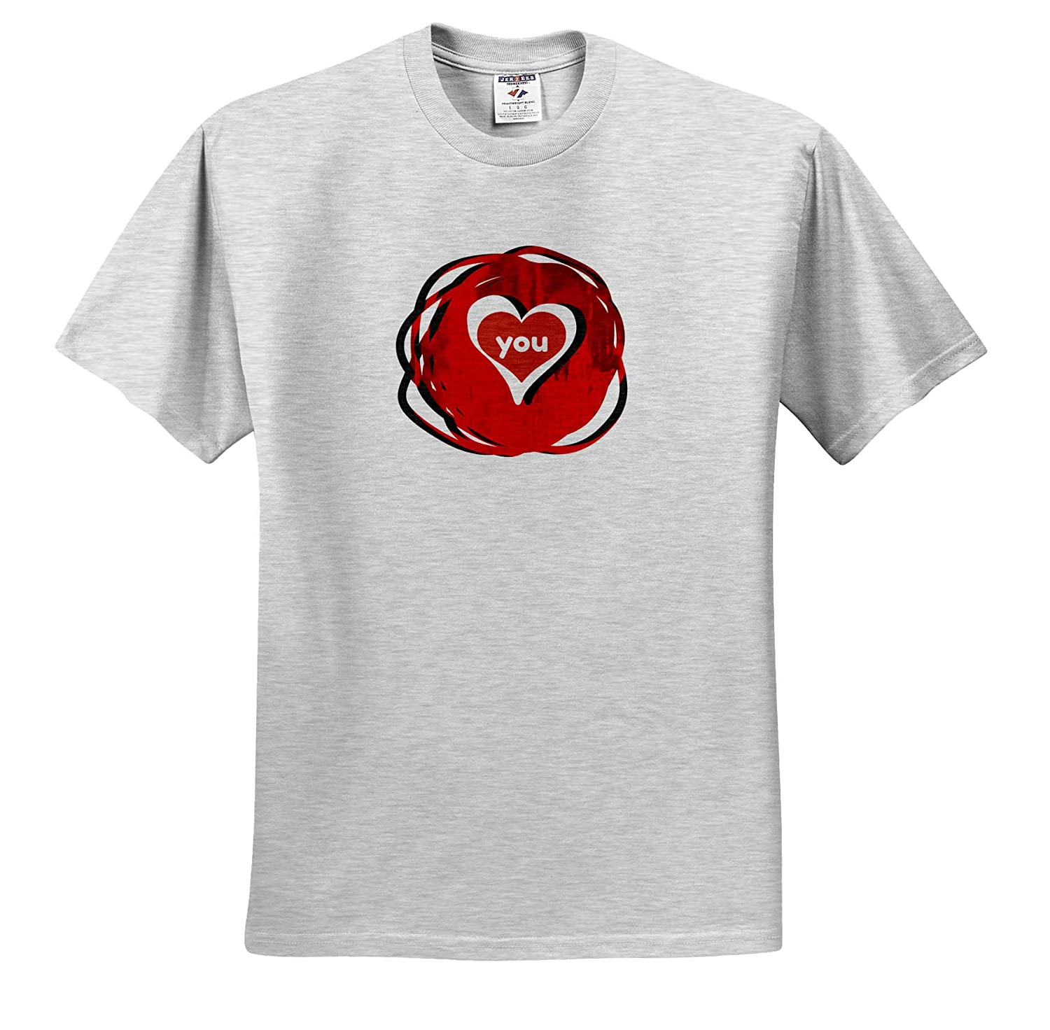 ts/_318608 3dRose Carrie Quote Image Adult T-Shirt XL Quote Image of Heart You