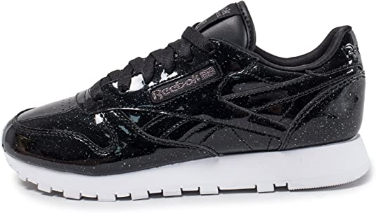 Reebok Classic Leather Patent Pearl Sneaker in Pearl Black White
