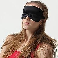 achicgirl Seda Pura Dormir máscara y reutilizable frío/calor terapia Gel antifaz Set