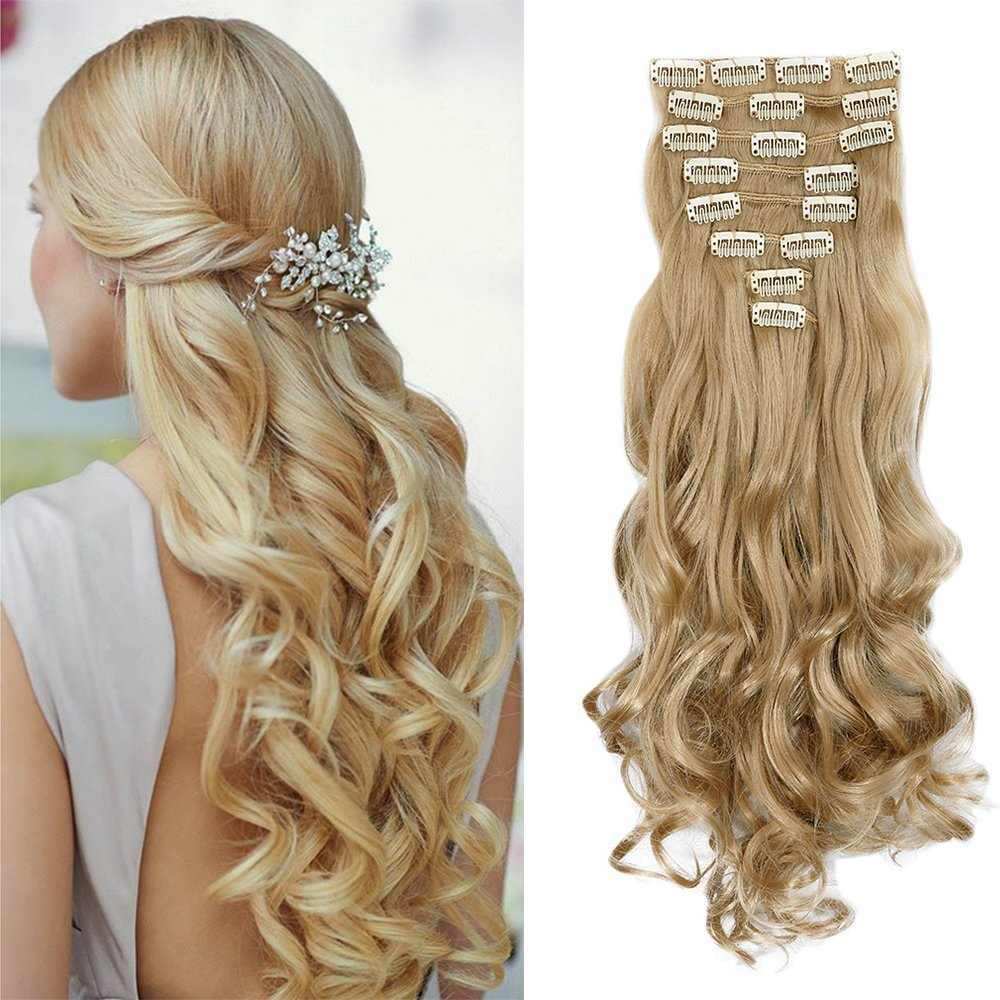 2 5 Days Delivery 8pcs 18 Clips 17 26 Inch Curly Straight Full Head