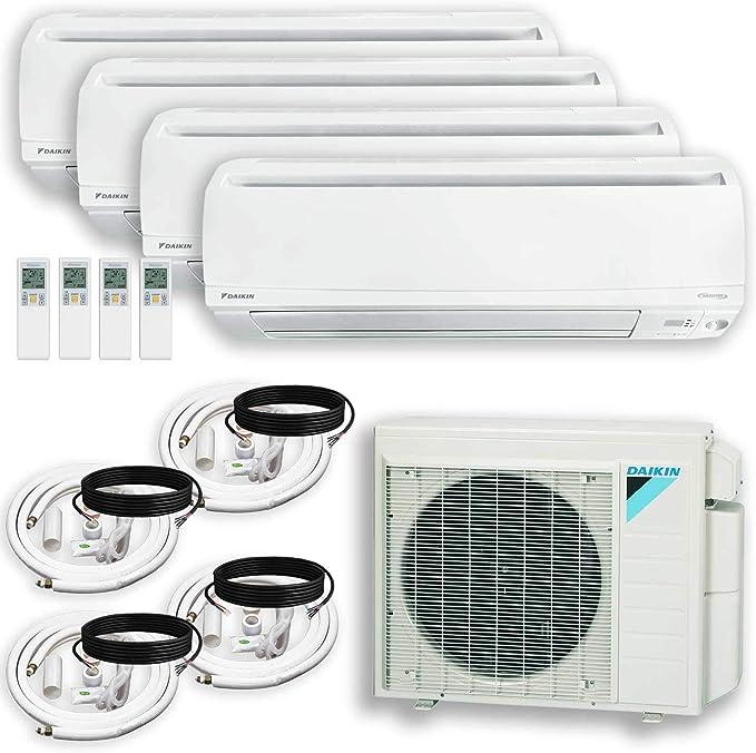 12000 + 18000 BTU Air Conditioner Heat Pump DAIKIN Dual Wall Bracket 2 Zone Installation Kit Maxwell 15 ft