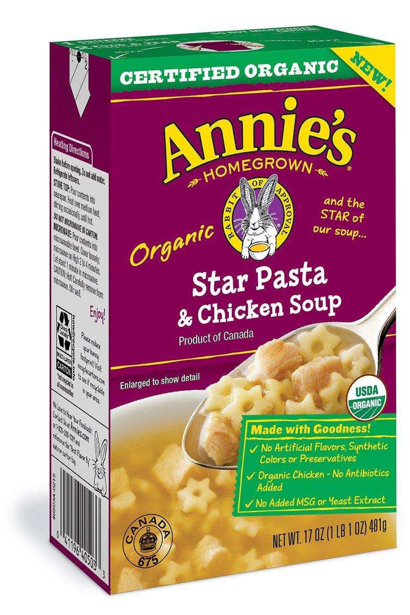 Annie's Organic Star Pasta & Chicken Soup 17 oz (Pack of 3)