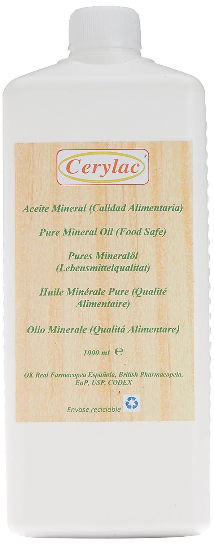 Huile Minérale pure pour le bois, l'ardoise et la pierre - 1000 ml. Qualité alimentaire. Approuvée par la Pharmacopée Royale Espagnole, par la Pharmacopée britannique, la certification des États-Unis DAB, la certif