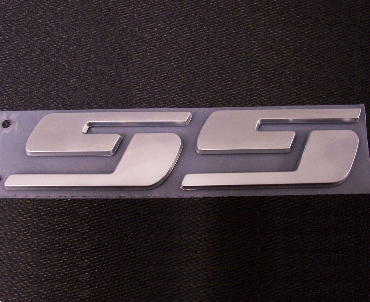 Yoaoo 3 OEM SS Emblems Badge 3d logo for Chevrolet Silverado Series Chrome 23172682