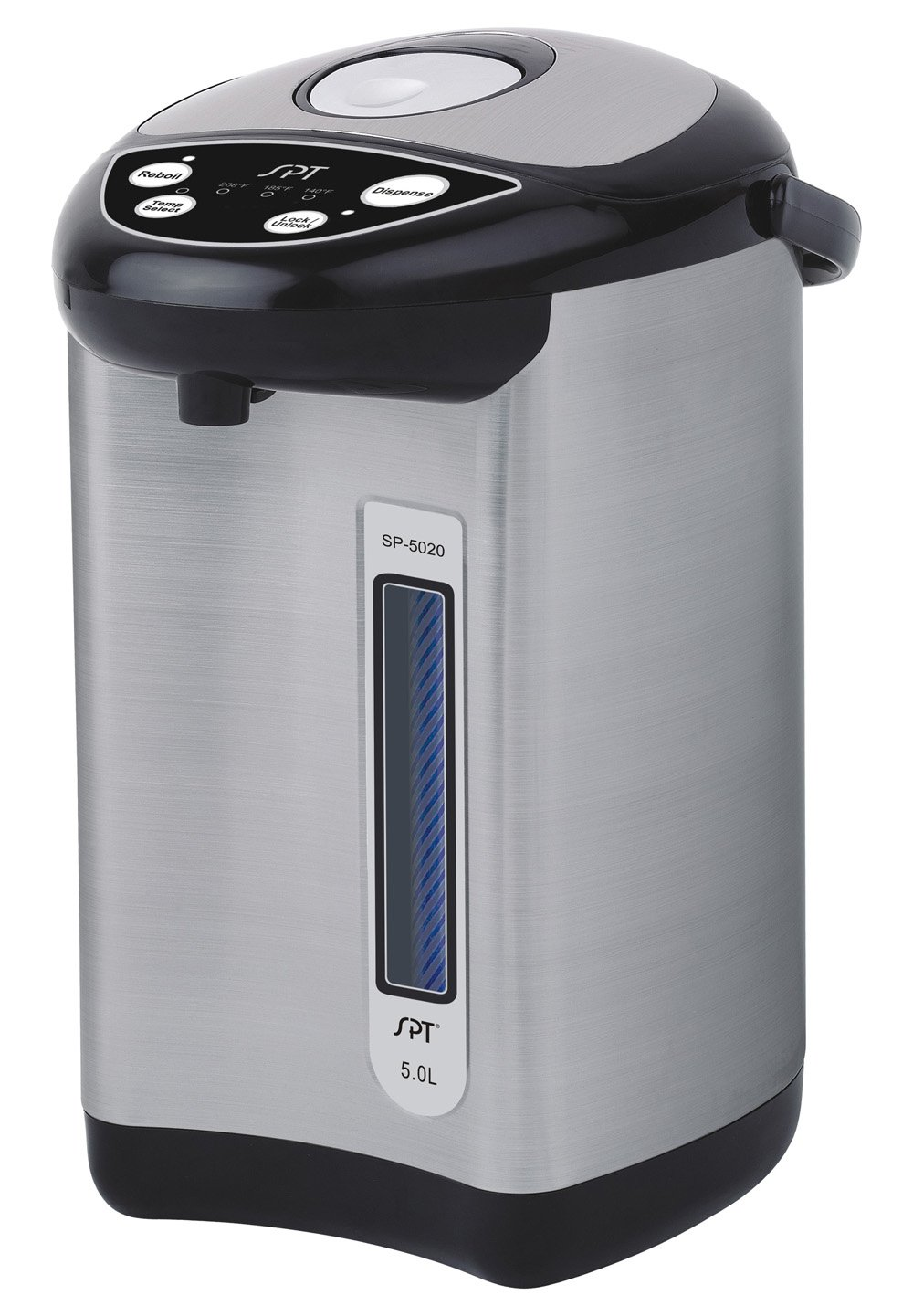 SPT SP-5020 Stainless with Multi-Temp Feature (5.0L), Black Sunpentown