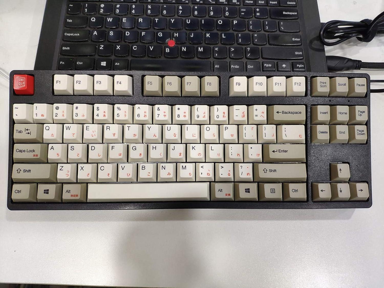 104 Keys Japanese Korean Dolch White-Grey Dye-Sublimation PBT Keycaps ANSI Profile for Cherry MX RGB Gaming Mechanical Keyboard 104 Korean