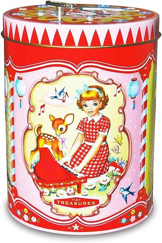 Caja de metal con diseño de tarro de las galletas de 8 x de lata de cotton candy caja de música caja de música caja de 10,5 x 15 cm: Amazon.es: Hogar