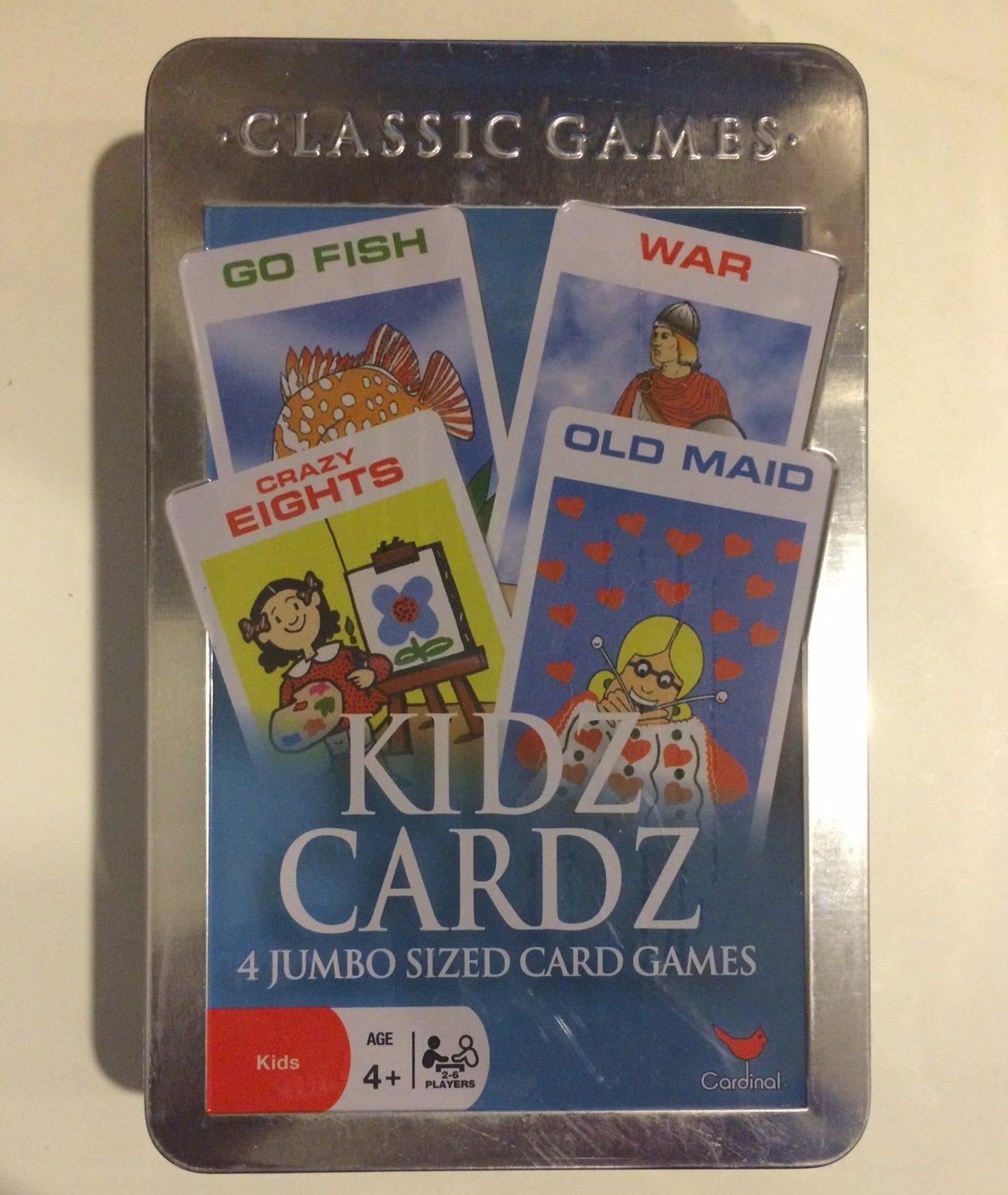 Kidz Cardz 4 Jumbo Größed Card Games by Go Go Go Fish - War - Crazy Eights - Old Maid 77618d