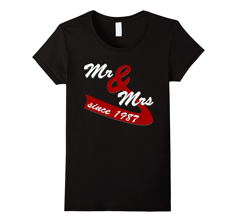 30th Wedding Anniversary Gift Ideas Couples T shirt