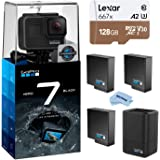GoPro HERO7 Black - Waterproof Digital Action Camera with Touch Screen 4K HD Video 12MP Photos Live Streaming, Bundle…