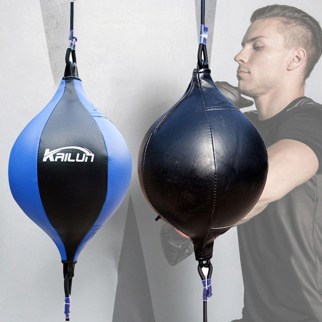 Wangjie double extr/émit/é Speedball pour la boxe Taekwondo Muay Thai formation plafond Sac de frappe Fitness dexercice