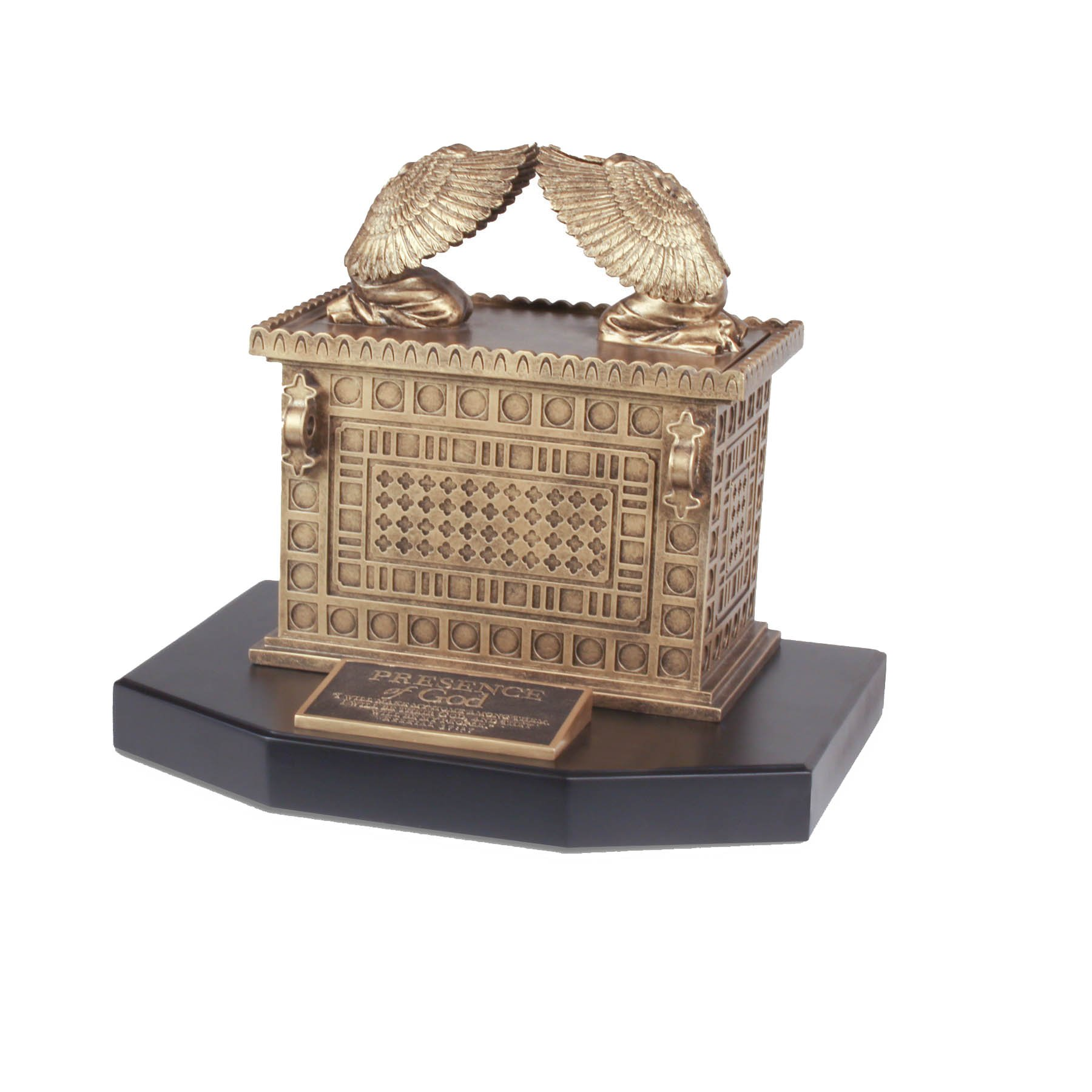 Lighthouse Christian Products Moments of Faith XL Ark of The Covenant Sculpture, 14 x 12 x 10 1/2''