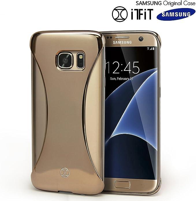 iTFiT Coque Galaxy S6 Edge , Original Samsung [Sexyback] Fin [] Coque Arrière de Forme Adaptée [Precision Fit] [Extra Large Prise Jack] Coque pour ...