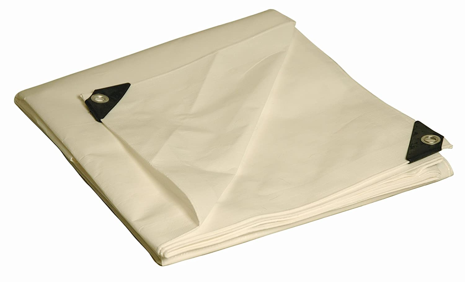 8' x 10' Dry Top Heavy Duty White Full Size 10-mil Poly Tarp item #308105 20403