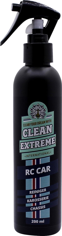 Clean Extreme RC Car–Limpiador de 200ml spray de limpieza para carrocería y Chassis–para extraer Limpieza y fiable de la RC Car carrocería. Libera final de suciedad, polvo, lubricante, grasa, ace