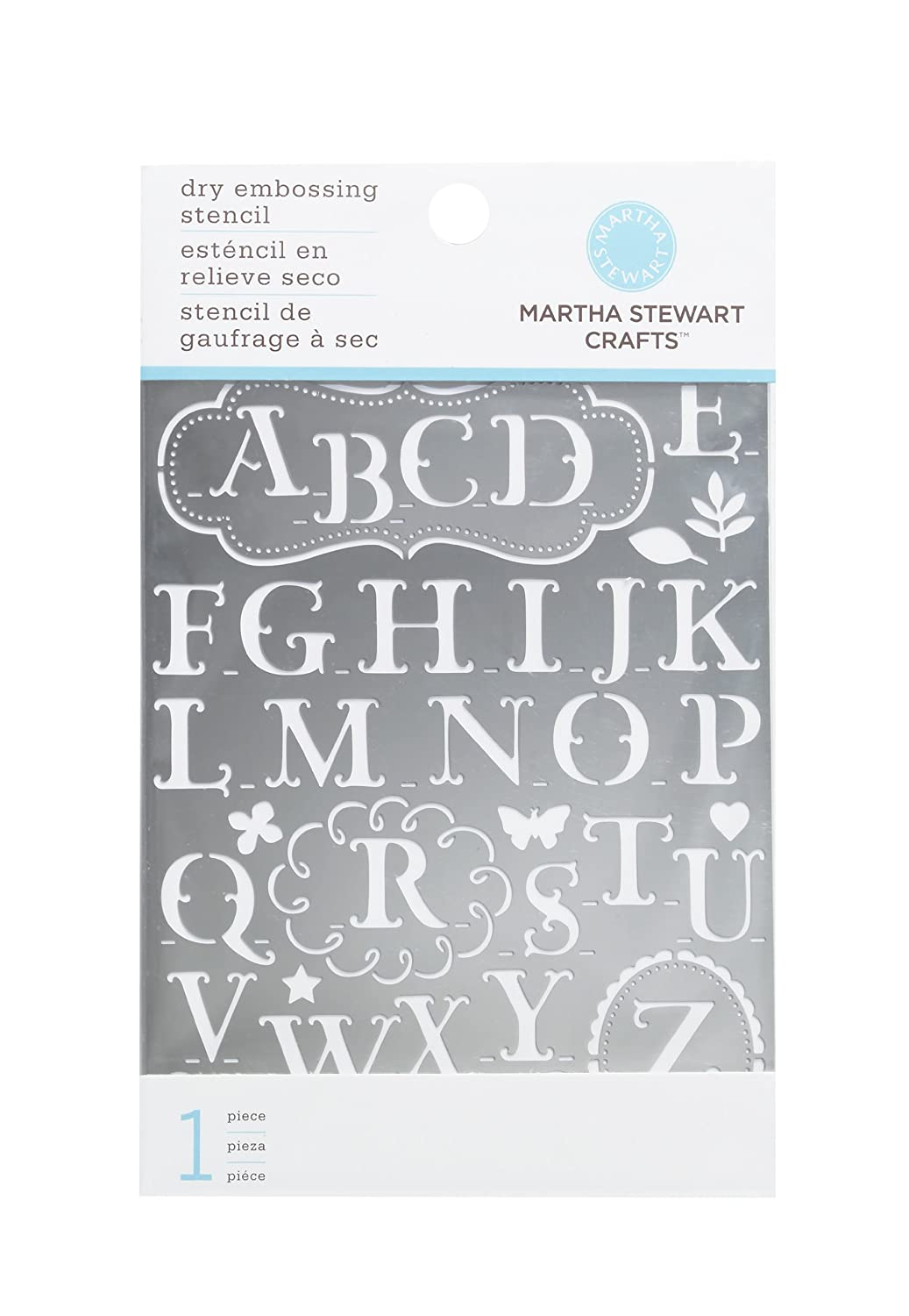 Amazon.com: Martha Stewart Crafts Alphabet Embossing Stencils