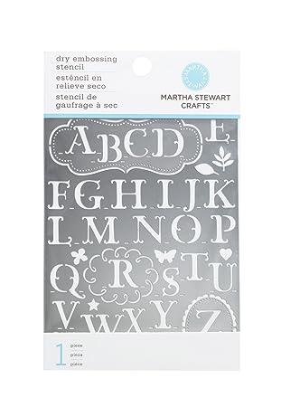 Amazon martha stewart crafts alphabet embossing stencils martha stewart crafts alphabet embossing stencils spiritdancerdesigns Choice Image