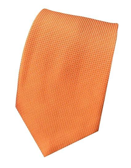 MENDENG New Mens Striped Silk Tie Business Wedding Necktie,Orange,One Size