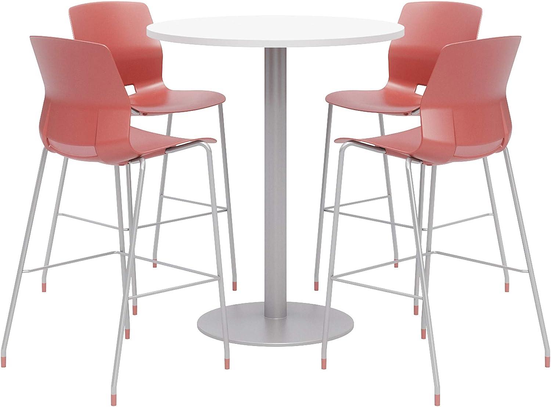 Olio Designs Dining Room Furniture, Designer White Table, Coral Stools