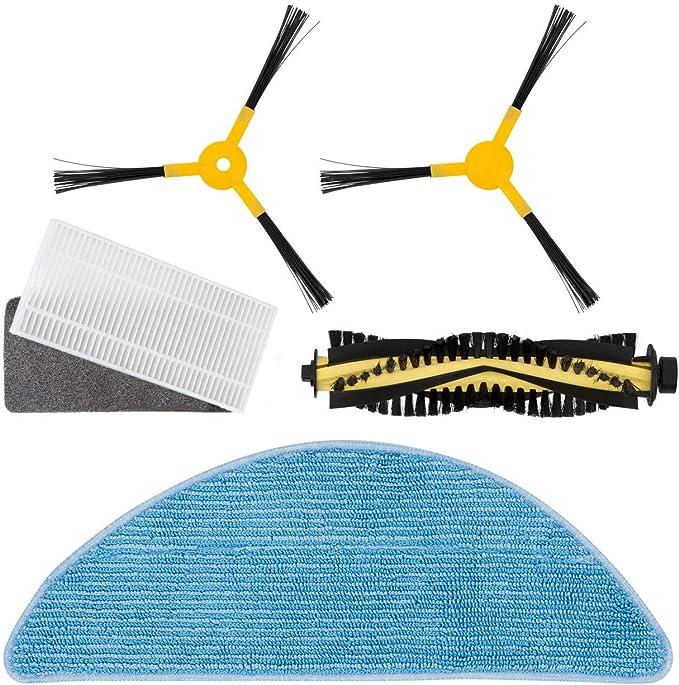 IKOHS Pack Repuestos (Cepillo Derecho + Cepillo Izquierdo + Rodillo + Filtro HEPA + Mopa) para NETBOT S14 / S15 - Robot Aspiradora: Amazon.es: Hogar