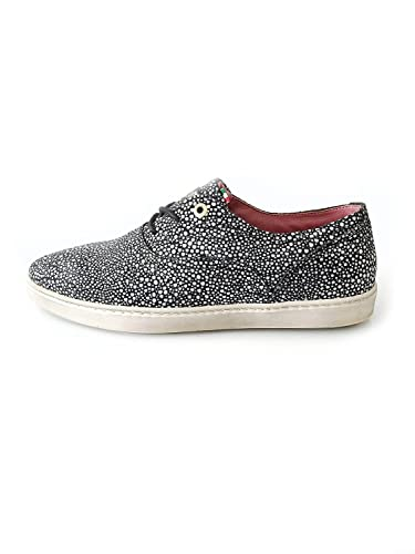 sports shoes fdc09 f458b Pantofola d'Oro Damenschuh Sneaker Echtleder schwarz weiß ...