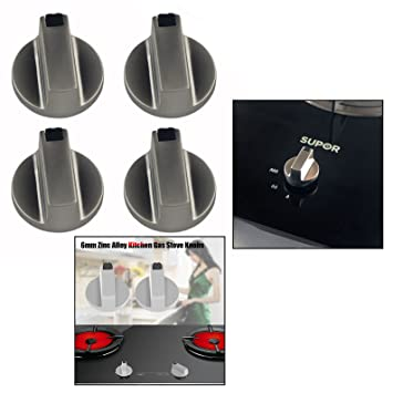 OFKPO 4 Pcs Botones Universal de Interruptor de la Cocina de Gas para Mayoría Las Horno, Cocina, Estufa de Gas,6mm: Amazon.es: Electrónica