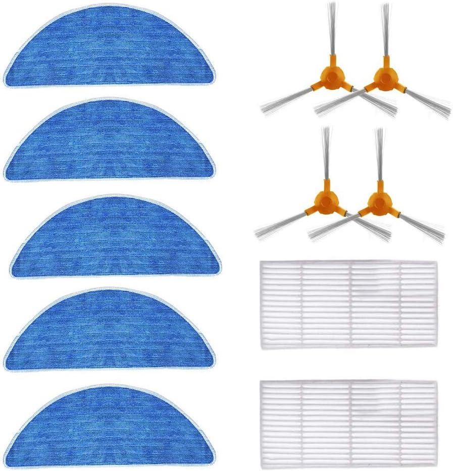 Zealing - Filtro de repuesto y cepillo lateral y paño compatible ...