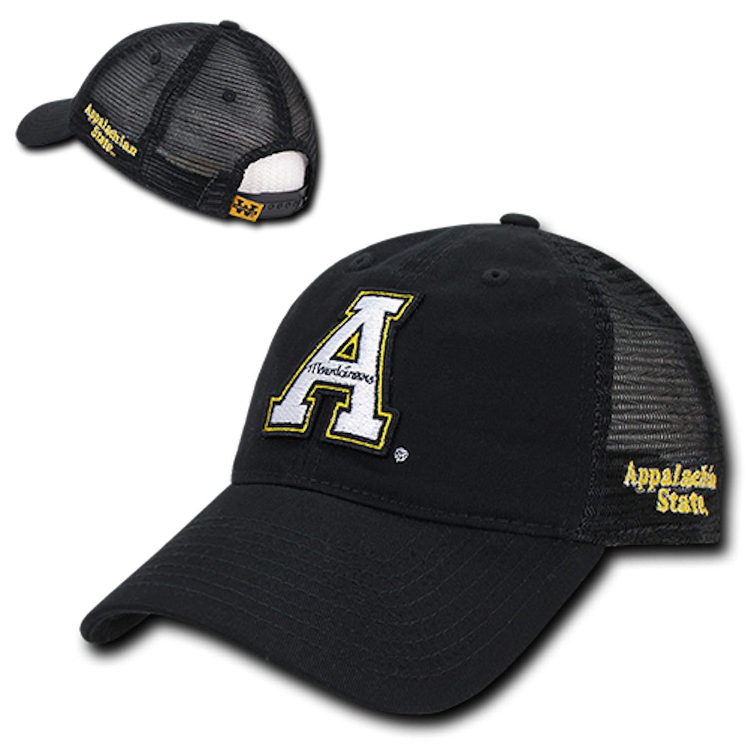 a60cf1146cd Amazon.com  ASU Appalachian App State University Mountaineers Polo Relaxed Trucker  Mesh Baseball Ball Cap Hat  Clothing