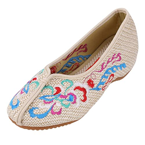 783c24ca96bd8 CINAK Embroidered Shoes- Mule Flats Shoes Backless Slipper Comfortable  Loafer Embroidery Slip on