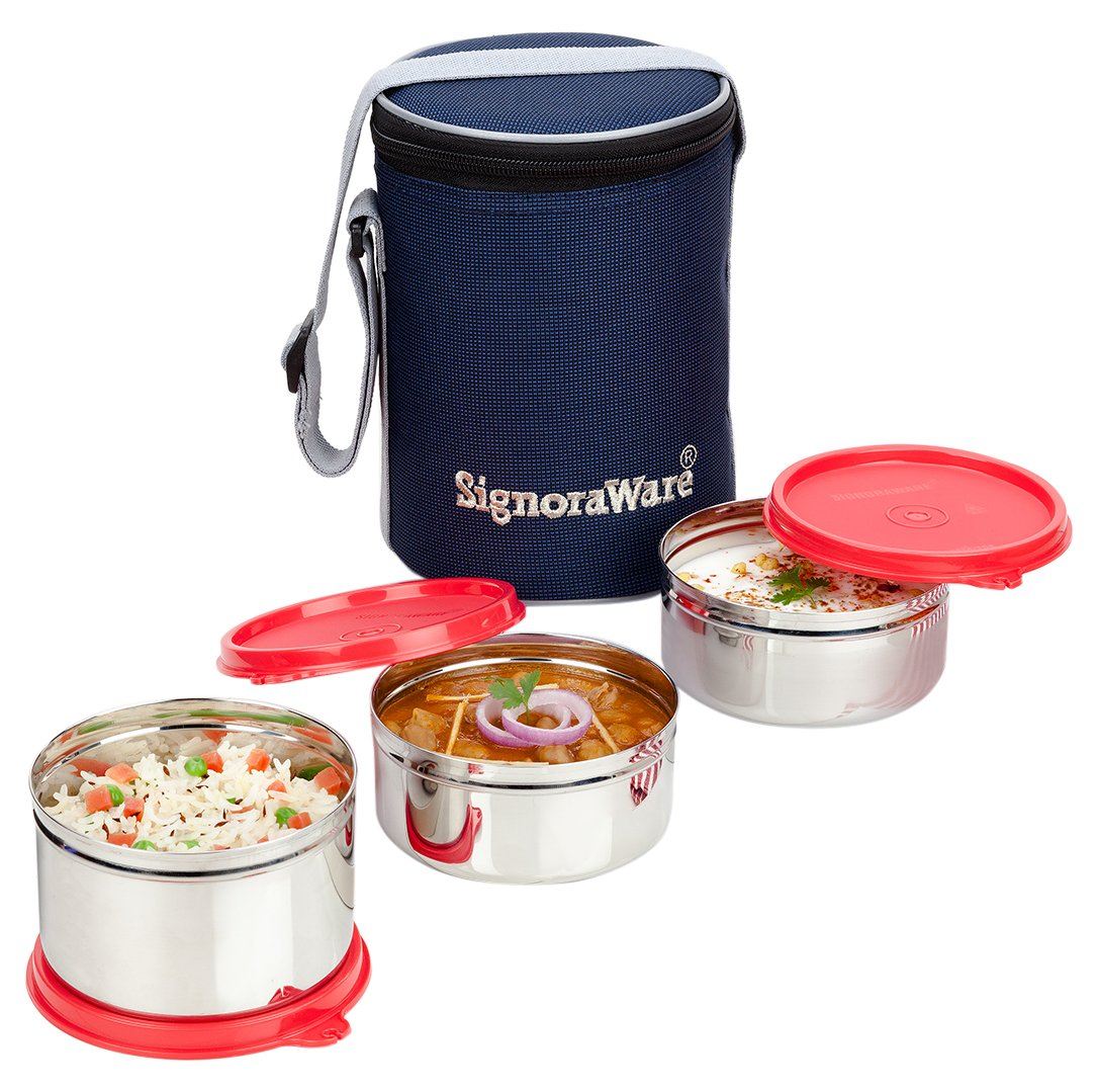 Signoraware Executive Stainless Steel Lunch Box