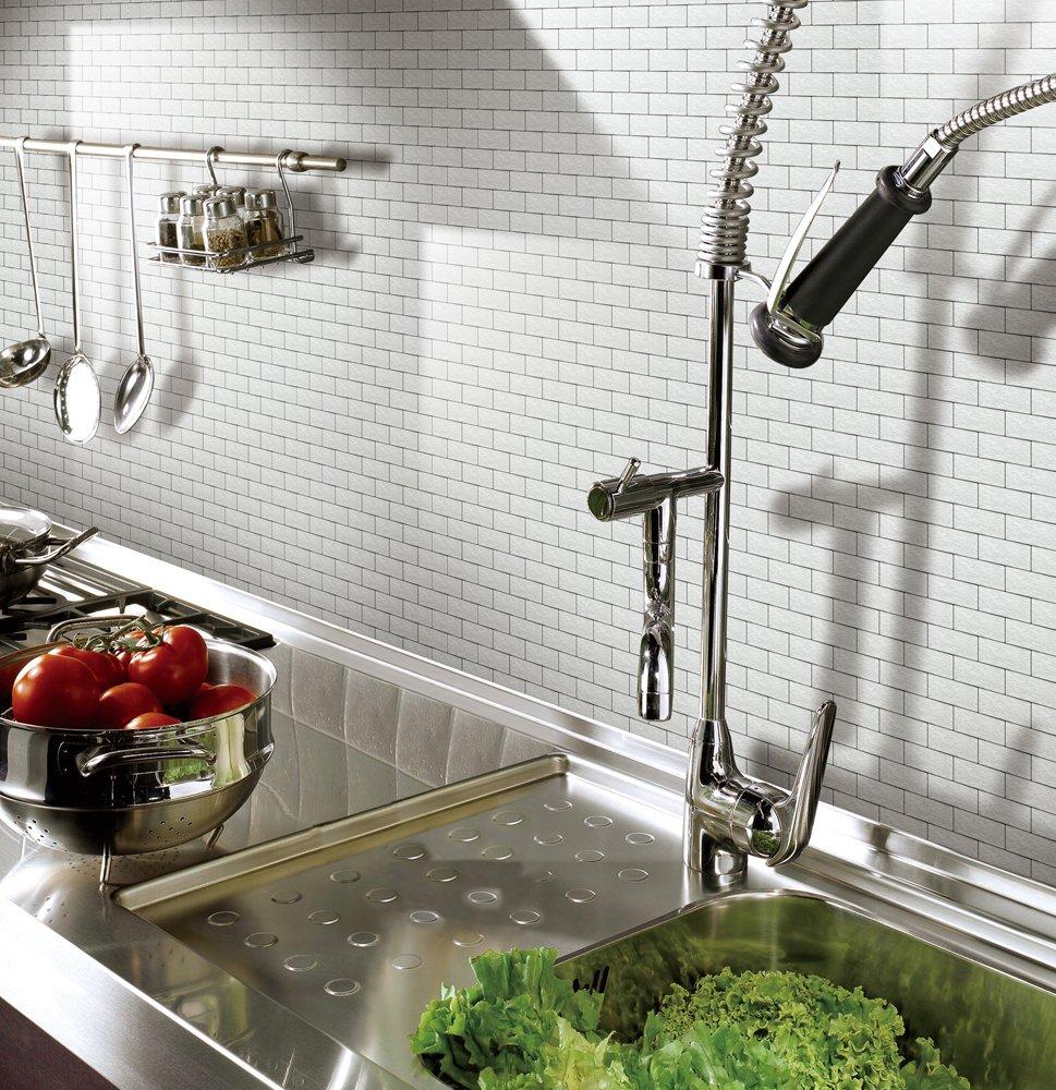 Art3d Peel and Stick Metal Backsplash Tile for Kitchen / Bathroom ...