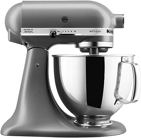 Robot de cocina KitchenAid Artisan con equipamiento profesional, color gris mate: Amazon.es