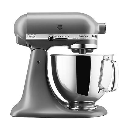Robot de cocina KitchenAid Artisan con equipamiento profesional, color gris mate