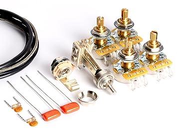 toneshaper guitar wiring kit for les paul standard modern wiring rh amazon co uk
