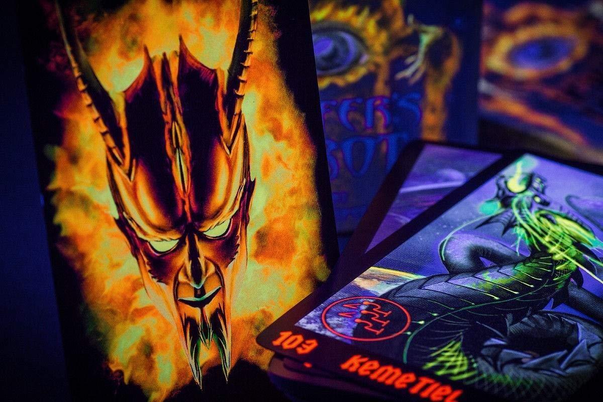 Lucifer's Tarot - Dark Tarot Cards -105 Occult Tarot Card Deck + Russian Guidebook by Delux (Image #3)