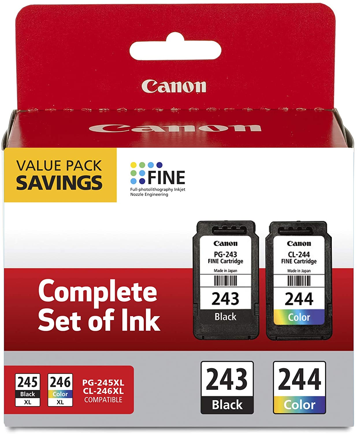 Canon PG-243/ CL-244Ink Multi pack, Compatible to TR4520, MX492, MG2520, MG2922, TS302 and TS202 Printers