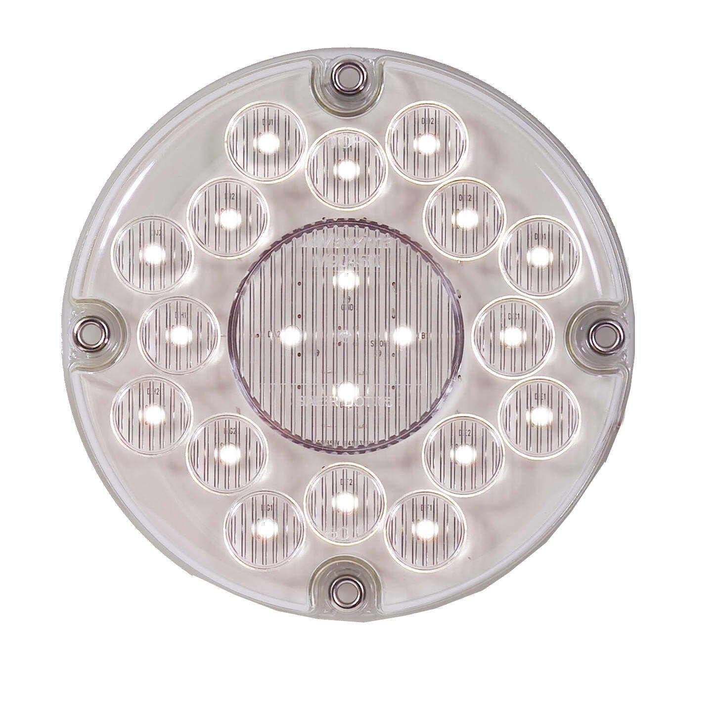 Maxxima M90450 White 7'' Round Bus LED Backup Light by Maxxima