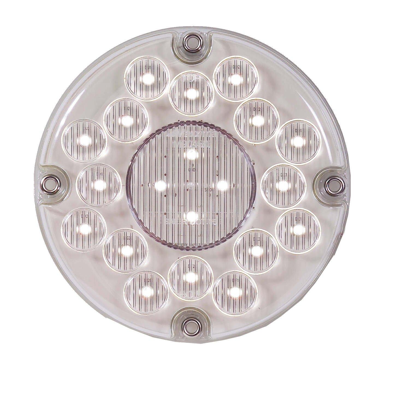 Maxxima M90450 White 7'' Round Bus LED Backup Light