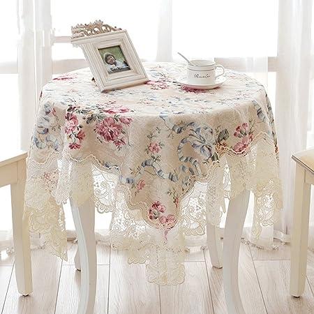 Ustide rústico Floral mantel Rectangualr Vintage rosa Funda para ...