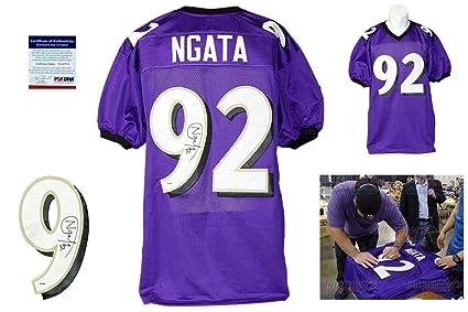 636d69852 Haloti Ngata Autographed Jersey - Purple Witness - PSA/DNA Certified -  Autographed NFL Jerseys